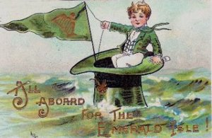 Irish postcard - All Aboard
